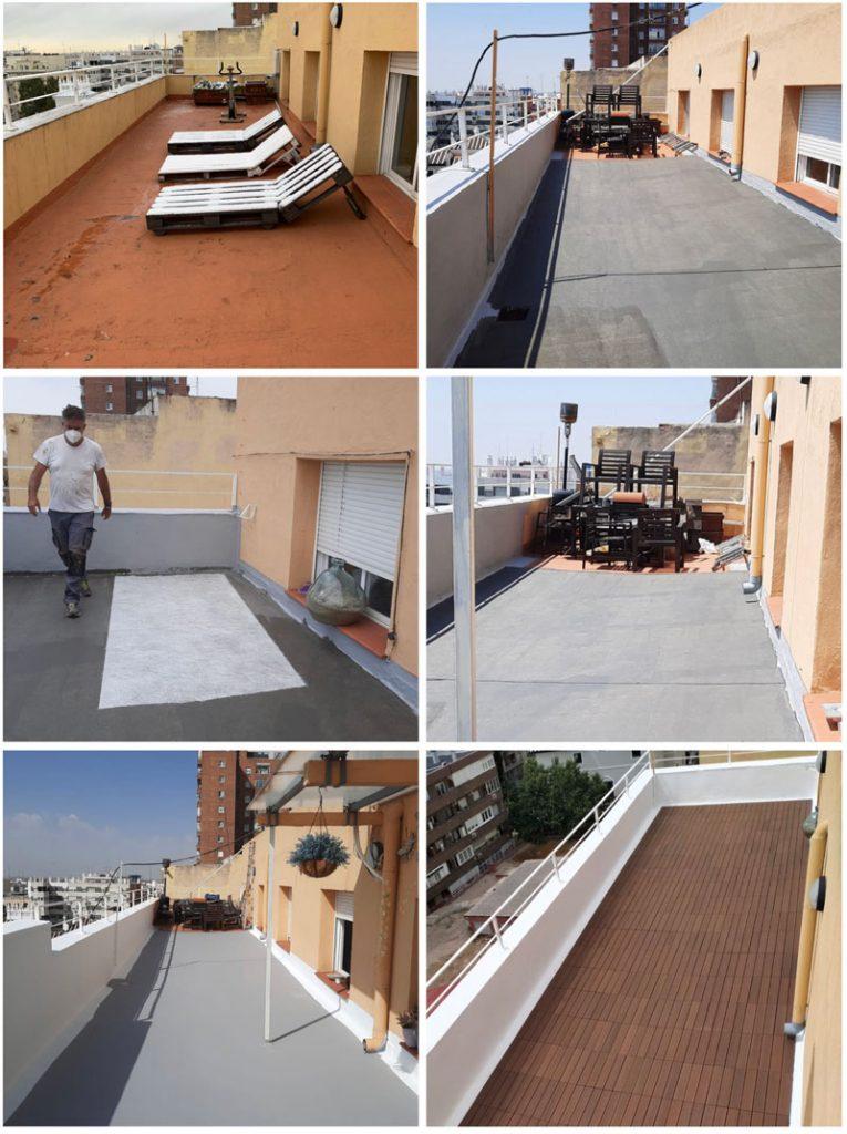 impermeabilizar una terraza y hacerla transitable sin obras