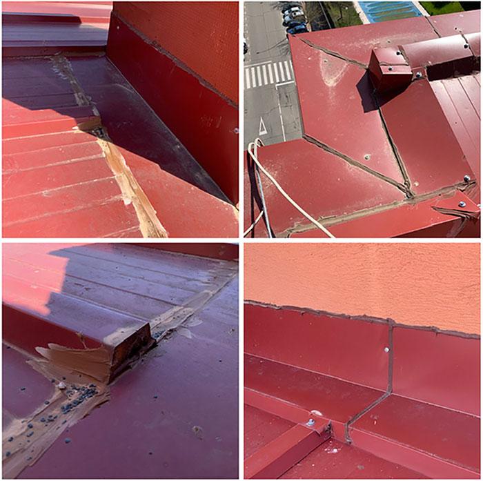 reparar tejado chapa