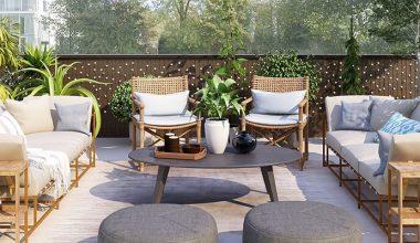 decorar terraza otono invierno